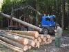 Odvozní souprava na dřevo